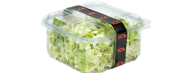 Banded salad packaging from Kernpack